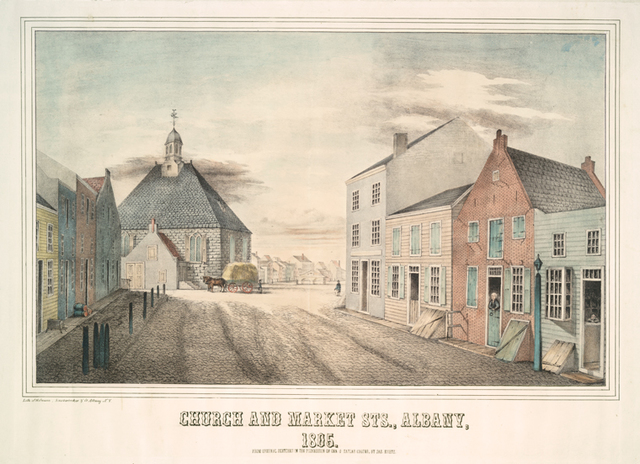 Church and Market Sts., Albany, 1805.
