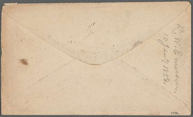 [Ricketson, Daniel], ALS to. Jan. 10, 1858.