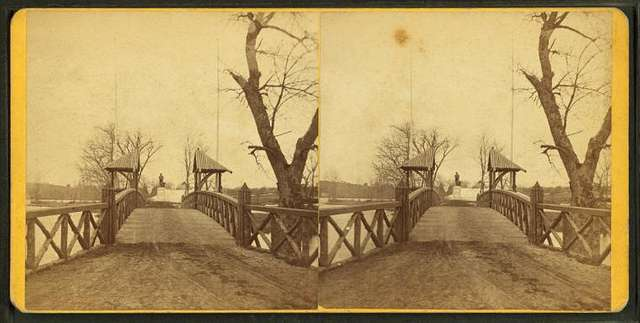 Concord and Lexington bridge.