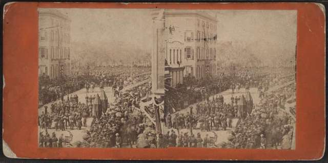 Lincoln's funeral procession on Broadway, New York.