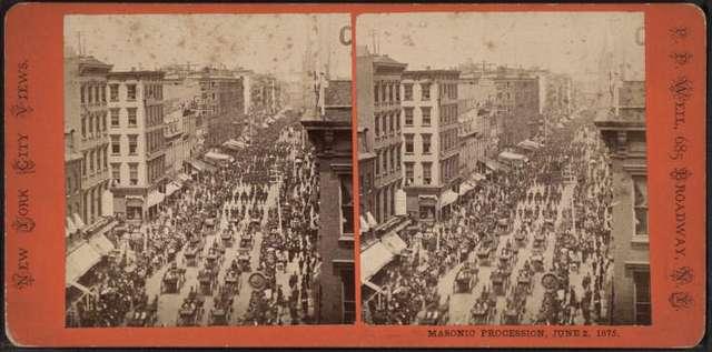 Masonic Procession, June 2, 1875.