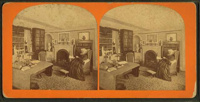 Mother of Mrs. L. M. Alcott at home, Concord, Mass.