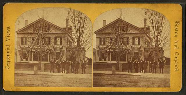 Residence of Judge Hoar with President Grant and cabinet.