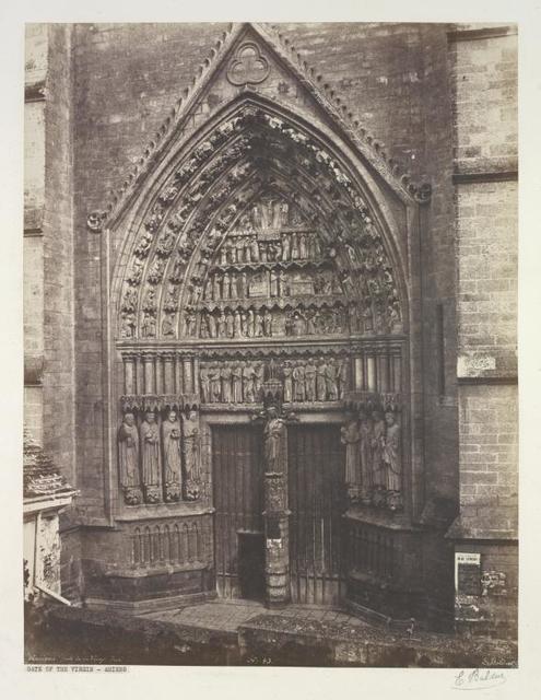 Amiens. Porte de la Vierge, doré