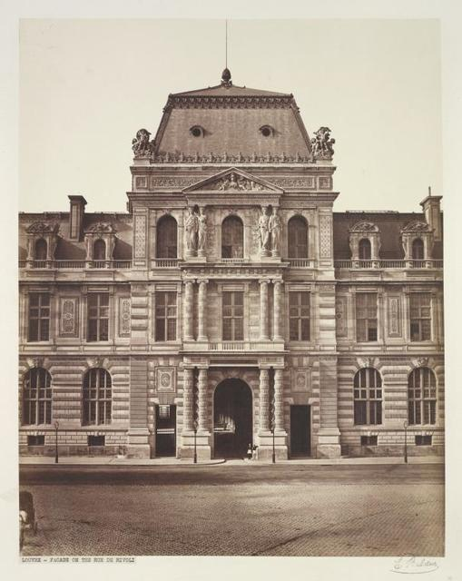 Louvre- Facade on the Rue de Rivoli.