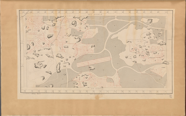 Map of Drainage System on Lower Part of the Central Park as far as completed up to December 31st, 1858