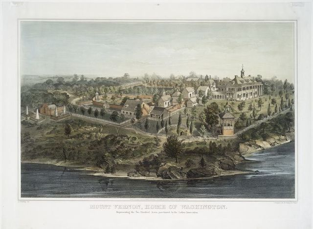 Mount Vernon, home of Washington.  Representing the two hundred acres purchased by the Ladies Association.