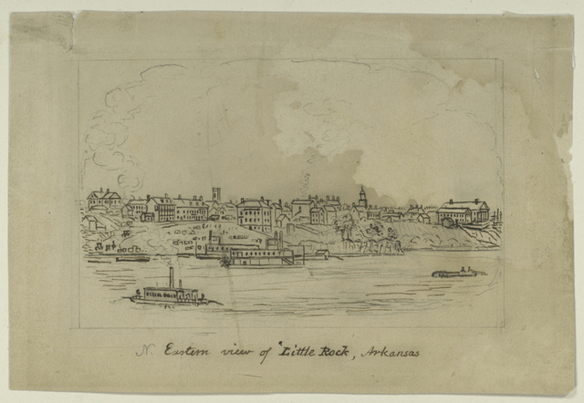 N. eastern view of Little Rock, Arkansas.