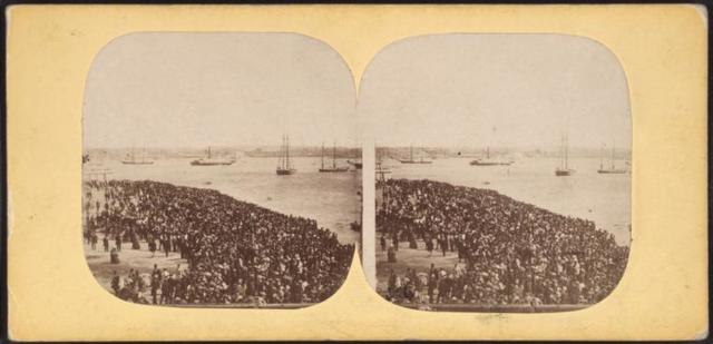 Waiting for the Regatta, on July 4, 1859.