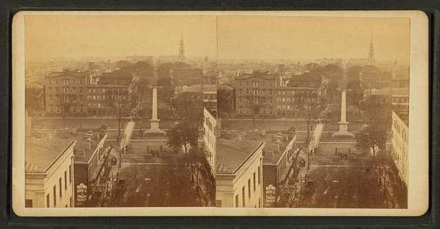 Bird's eye view of Bull Street.