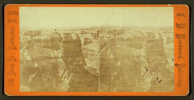 Chasm in the desert of Arizona