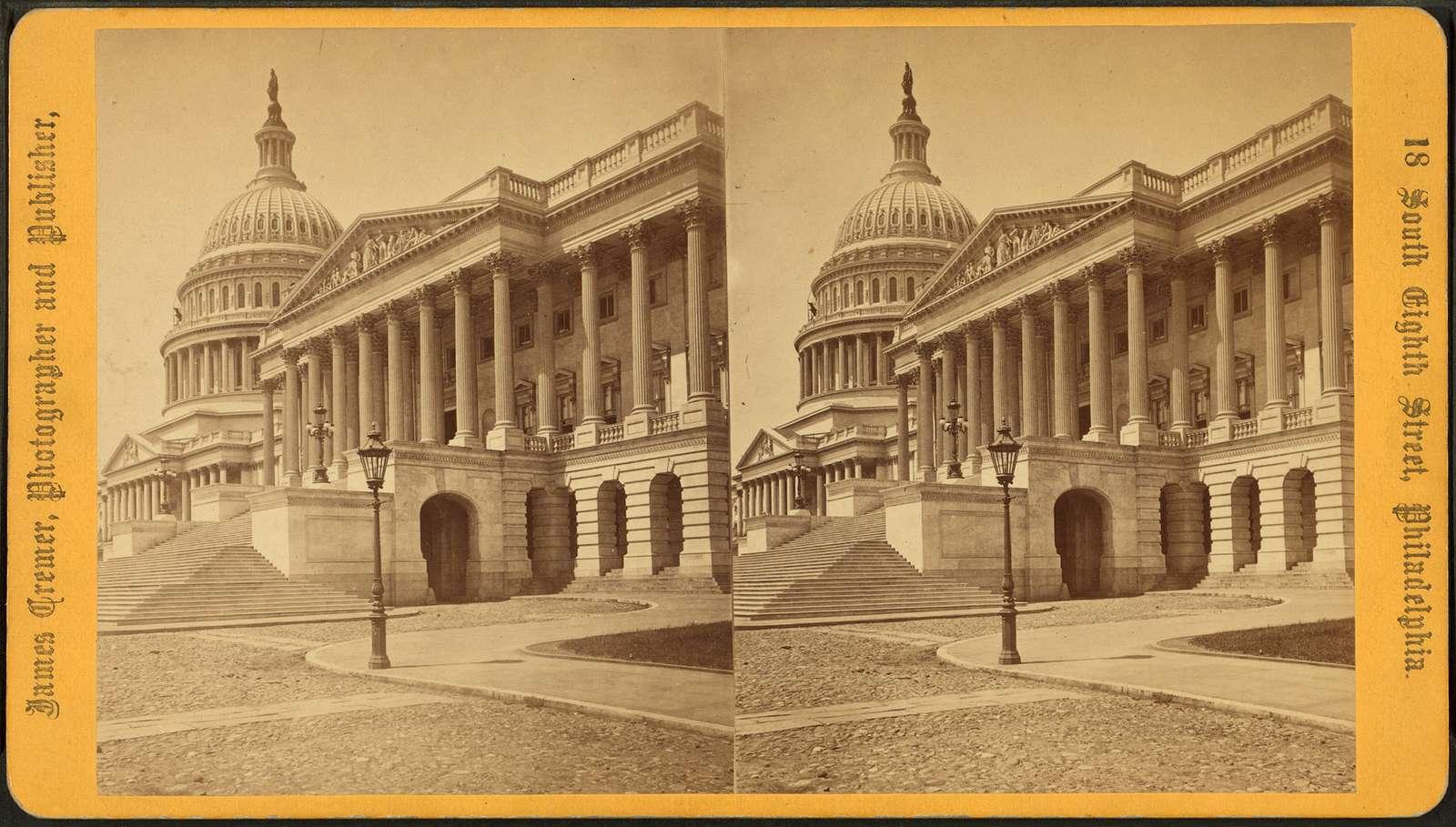 Senate Front & Dome, U.S. Capitol, Washington, D.C.