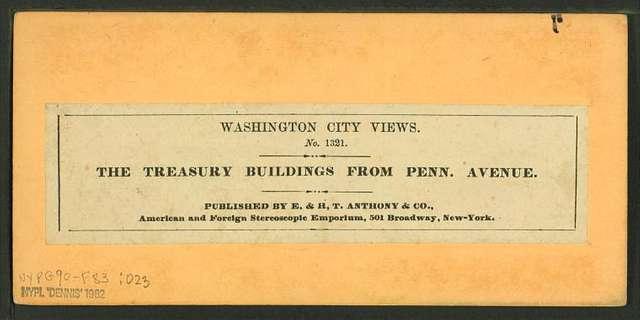 The Treasury Building from Penn. Avenue.