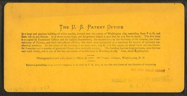 The U.S. Patent Office.