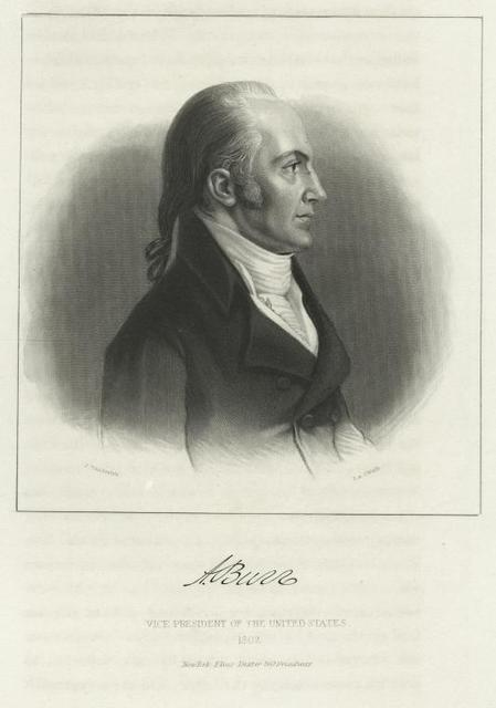 A. Burr, Vice President of the United States, 1802.