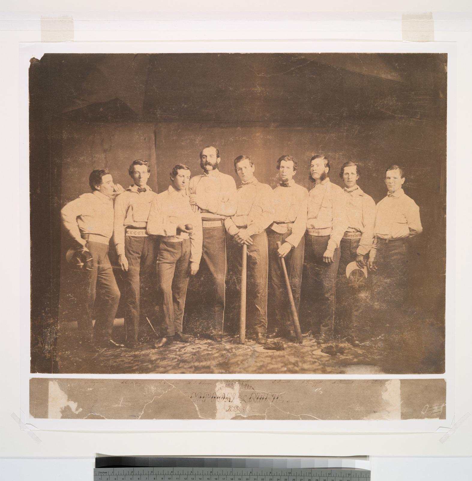 Excelsiors of Brooklyn, E., 1860, Raynolds, J. Whiting, Creighton, Polhemus, Pearsall, Russell, Leggett, Brainard, Flanly