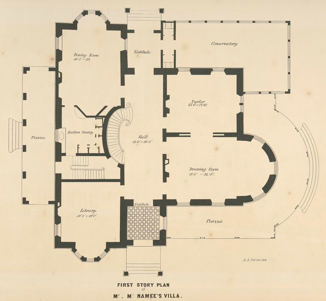 First story plan of Mr. McNamee's villa.