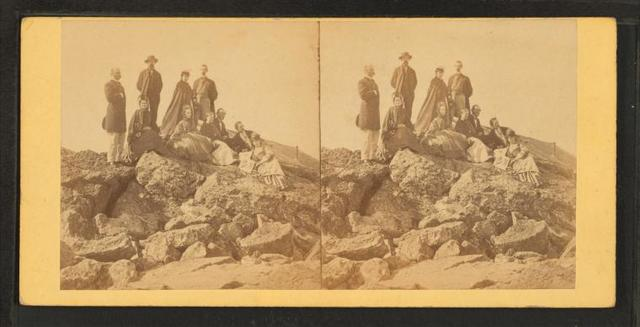 [Group on the Rocks.]