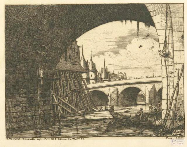 L'arche du Pont Notre-Dame.