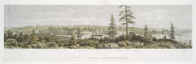 View of Victoria, Vancouver Island.