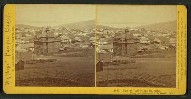 Cty of Vallejo and suburbs, from the residence of A.C. Woods.