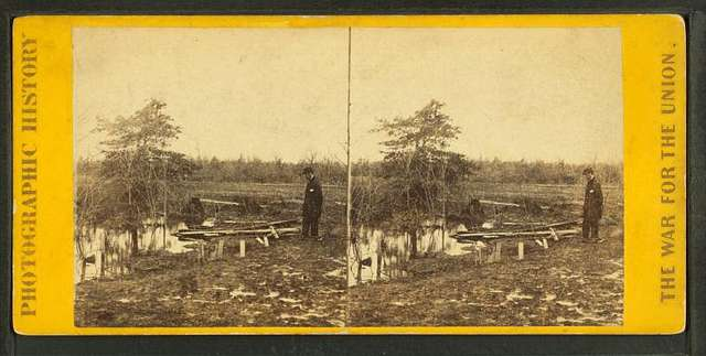 Soldiers' graves, Bull Run battlefield, Va.