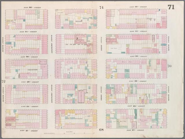 [Plate 71: Map bounded by East 32nd Street, Second Avenue, East 27th Street, Fourth Avenue.]