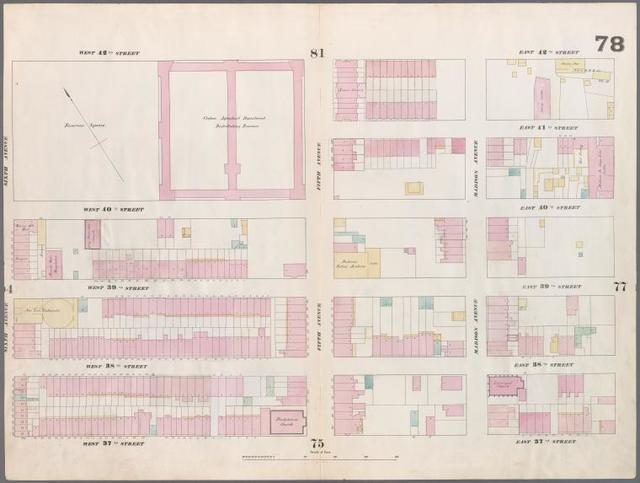 [Plate 78: Map bounded by West 42nd Street, East 42nd Street, Fourth Avenue, East 37th Street, West 37th Street, Sixth Avenue.]