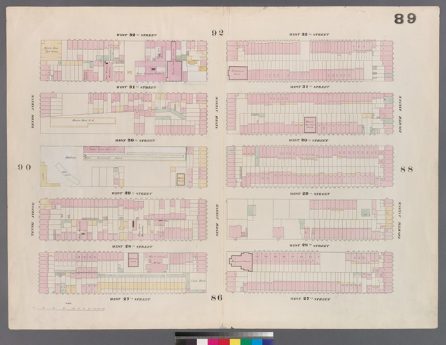 [Plate 89: Map bounded by West 32nd Street, Eighth Avenue, West 27th Street, Tenth Avenue.]