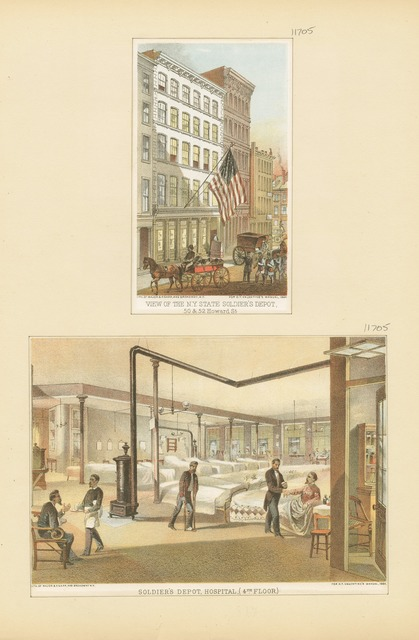 View of the N.Y. State Soldier's Depot, 50 & 52 Howard St.; Soldier's Depot, Hospital (4th floor)