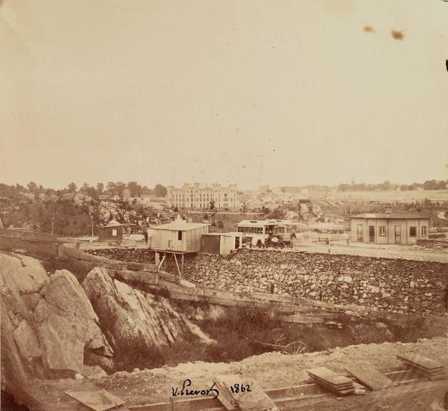 Arsenal from 6th Ave. Westside. August 13, 1862