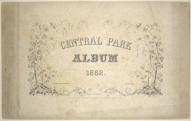 Central Park Album 1862 [title page]