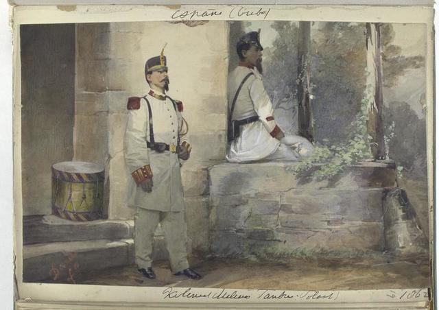 Cuba Kolonial Milicias. ... 1862