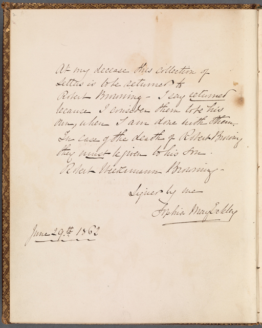 Eckley's assignment of ownership over the collection of letters