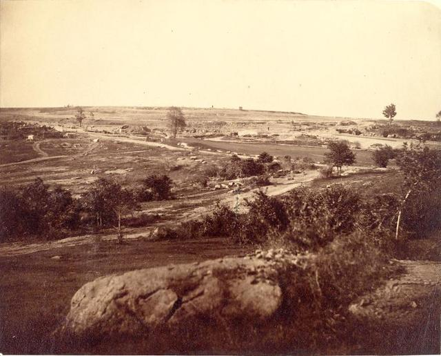 General View of N. Reservoir from 102th St. October 23, 1862.