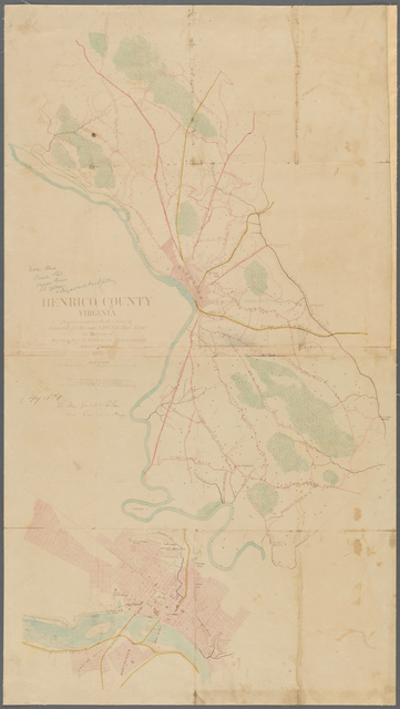 Henrico County, Virginia: prepared under the direction of Lieut. Col. J.N. Macomb, A.D.C., Chf. Topl. Engr. for the use of Maj. Gen. Geo. B. McClellan, commanding Army of Potomac, 1862