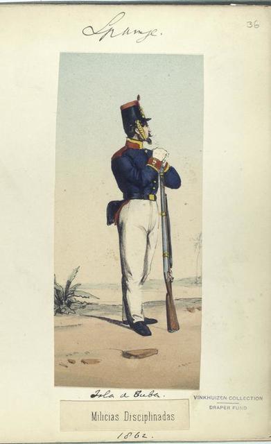 Isla de Cuba. Milicias Disciplinadas. 1862