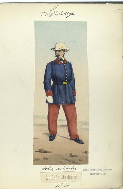 Isla de Cuba. Soldado (de diario). 1862