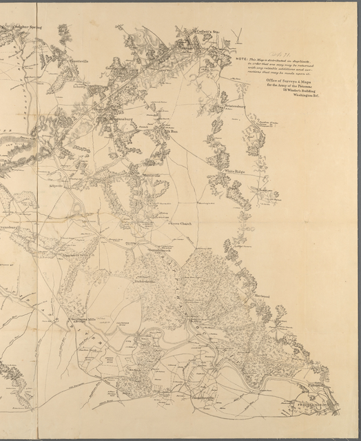 Map of a part of the Rappahannock River above Fredericksburg and the Rapid Ann River & the adjacent country