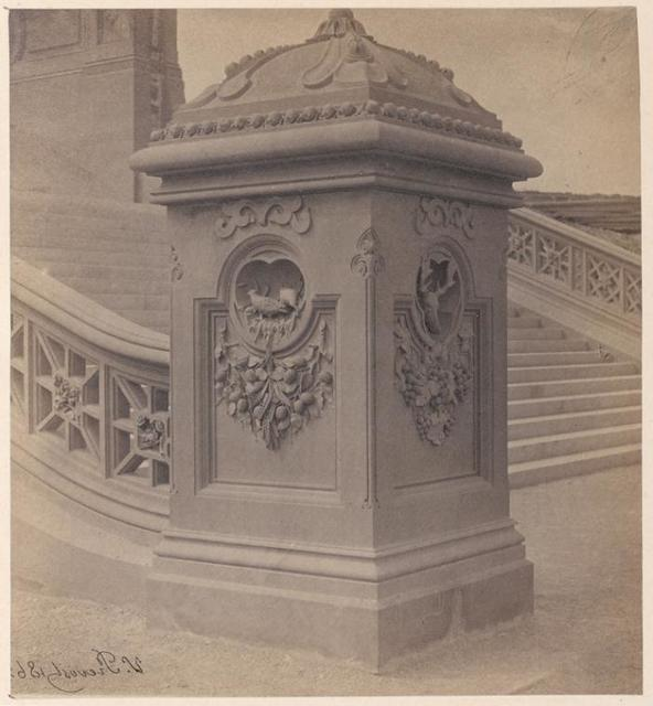 Newel at base of Bethesda Terrace staircase.