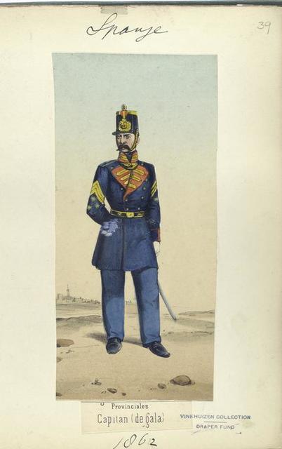 Provinciales. Capitan (de gala). 1862