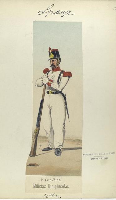 Puerto-Rico. Milicias Diciplinadas. 1862