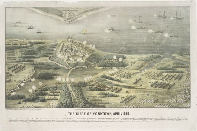 The seige of Yorktown, April 1862.