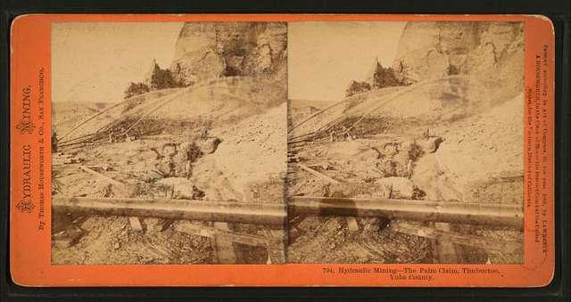 Hydraulic mining - The Palm claim, Timbuctoo, Yuba County.