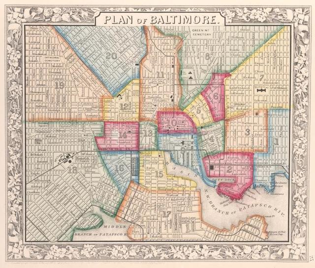 Plan of Baltimore.