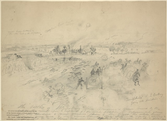 The battle of Sharpsburg from Mumma's farm. July 3, 1863
