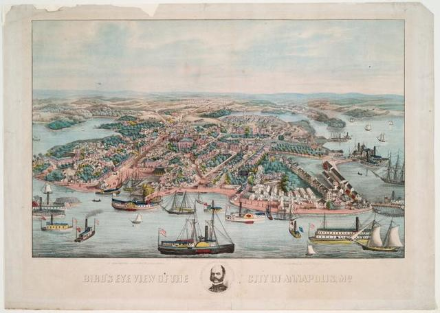 Bird's eye view of the city of Annapolis, Md.