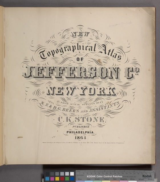 New topographical atlas of Jefferson Co., New York.