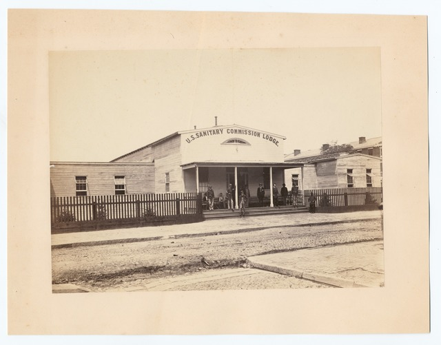 U.S. Sanitary Commission Lodge, location unknown.