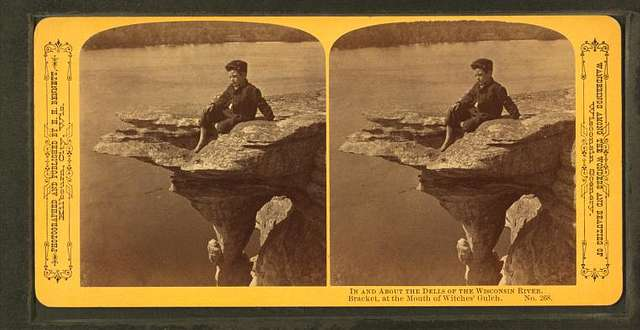 In and about the Dells of Wisconsin River. Brackets at the Mouth of Witches' Gulch.